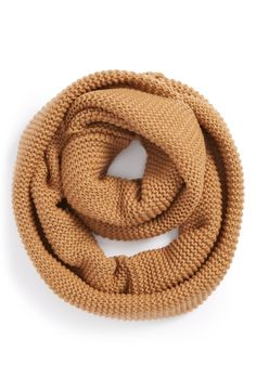 Infinity scarf in autumn colors.