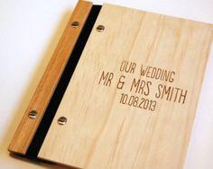 Portefeuille personnalisé gravé bois A3 folio dessin par lorgie