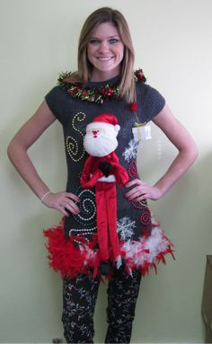 Tacky Christmas Sweater That I am am so gonna make and wear this xmas!