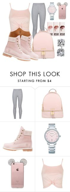 """""""pink ? """" by jayleewarren ❤ liked on Polyvore featuring NIKE, MICHAEL Michael Kors, Timberland, Tiffany & Co., Topshop and Blue Nile"""