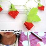 Paper+strawberries