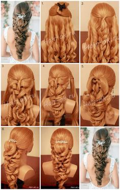 New wedding hairstyles trenza awesome ideas Fancy Hairstyles, Braided Hairstyles, Wedding Hairstyles, Hairstyle Ideas, Hairstyles 2016, Medium Hairstyles, Wedding Updo, Easy Hairstyle, Bridal Hairstyle
