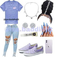 """OUTFIT INSPO on Instagram: """"Creator: @iza.baddiefit  Would you wear this Comment down below⬇️ Follow @iza.baddiefit for more - Tags #viral #trendingnow #trending…"""" Teenager Outfits, Girl Outfits, Fashion Outfits, Womens Fashion, How To Wear Vans, Cute Outfits For School, Diy Birthday, Birthday Gifts, Baddie"""