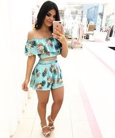 Pin by Isabel Ramos on Roupas in 2019 Short Outfits, Summer Outfits, Casual Outfits, Fashion Outfits, Womens Fashion, Mode Rock, Outfit Trends, Passion For Fashion, Casual Looks