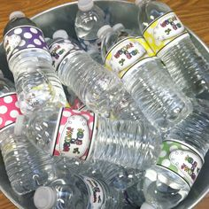 Meet the teacher water bottles. Found the bottle wraps on teacherspayteachers.com