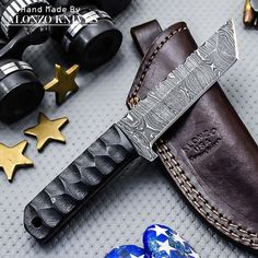 ALONZO KNIVES USA CUSTOM HANDMADE DAMASCUS TACTICAL TANTO KNIFE MICARTA 900 #AlonzoKnives