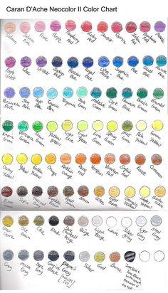 Caran D'ache Neocolor II Color Chart by Sara Light-Waller, via Flickr