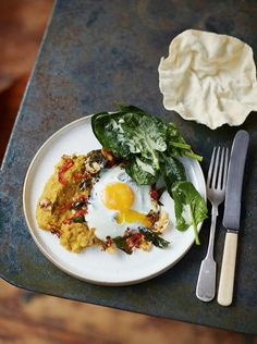 dhal recipe- Jamie Oliver super foods - lunch. Lentils, butternut squash, eggs, spinach