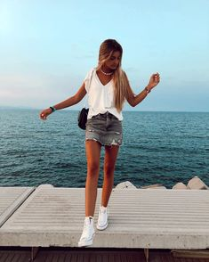 2020 Summer New Casual : Creative Vision Design - Source by - Teenage Outfits, Teen Fashion Outfits, Mode Outfits, Look Fashion, Outfits For Teens, Girl Outfits, Fashion Ideas, Fashion Fall, Fashion Fashion