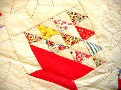 vintage 1930s basket quilt - basket2 by needle book, via Flickr