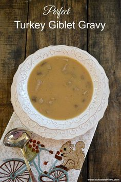 Rich, luscious and delicious, this is a recipe for Perfect Turkey Giblet Gravy made from scratch using giblets, pan drippings and turkey fat.