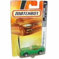 Matchbox Sports Cars TVR TUSCAN S green die-cast 1:64 scale by Matchbox. $2.95. 22. MATCHBOX DIE-CAST METAL 1:64 SCALE. 14/17. HIGHLY DETAILED. TVR TUSCAN S - GREEN - SPORTS CAR. Mattel Matchbox 2007 MBX Sports Cars 1:64 Scale Die Cast Metal Car # 22 - Green Sport Coupe Car TVR Tuscan S