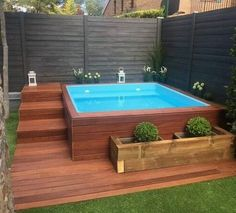 Having a pool sounds awesome especially if you are working with the best backyard pool landscaping ideas there is. How you design a proper backyard with a pool matters. Small Swimming Pools, Small Pools, Swimming Pools Backyard, Swimming Pool Designs, Backyard Landscaping, Landscaping Ideas, Luxury Landscaping, Landscaping Company, Hot Tub Backyard