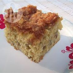 Rhubarb crumble cake (Gigi makes it with Apples)