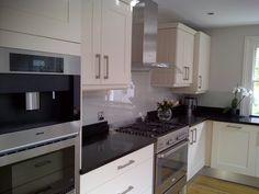 pale grey glass splashbacks Kitchen Inspiration, Kitchen Ideas, Kitchen Design, Glass Splashbacks, Grey Glass, My House, Kitchens, Laundry, Kitchen Cabinets