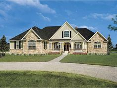 French Country House Plan with 2818 Square Feet and 4 Bedrooms from Dream Home Source | House Plan Code DHSW41915