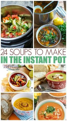 When it comes to cooking meals, most of y'all know that the Instant Pot is my best friend. I am sharing 24 soups to make in the instant pot. via @AFHomemaker