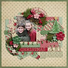 Template half pack #68 by Cindy Schneider at Sweet Shoppe Designs.  Christmas Meadow by Shabby Miss Jenn Designs.