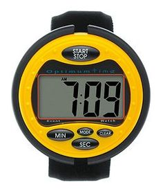 Ultimate Event Stop Watch Yellow From Optimum Time. Optimum Time Ultimate Event Stop Watch, Oe385, Suitable For Eventing, Carriage Driving Trials & Pony Club Events. Comfortable Design, Featuring A Count Up And Down Mode Plus Alarm. Sleeve Wearingwater Resistant To 5 Atmshock Resistant Constructionnormal Time Keeping Mode (24 Or 12 Hour)Specialist Eventing Timekeeping Functions:Count Down From Programmable Time With Alarm At Zerocount Up From Zero With Minute Marker Alarm.