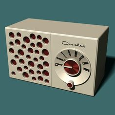 1955 Crosley Swiss Cheese Radio