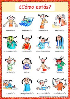 Me encanta escribir en español: ¿Cómo #estás? /¿Cómo te sientes? (adjetivos)