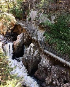 This Wooden Staircase Near Ontario Will Take You Past A Rushing Waterfall - Narcity Vacation Places, Vacation Spots, Places To Travel, Places To See, Vacations, Vacation Trips, Vacation Ideas, Quebec, High Falls Gorge