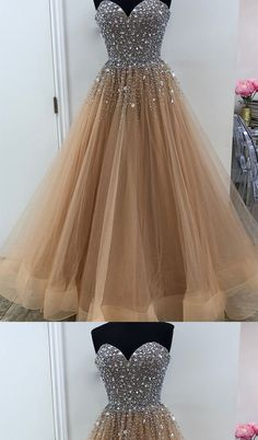 Heavy Beaded Sweetheart A Line Long Prom Dresses Evening Gown Formal Dress. Cheap Prom Dresses, Homecoming Dresses, Formal Dresses, Party Dresses, Mermaid Bridesmaid Dresses, Dream Dress, Dress Making, Ball Gowns, Evening Dresses