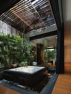 GSD Architect - Architect Located In Kuala Lumpur, Malaysia Dream House Interior, Dream Home Design, Home Interior Design, Interior Architecture, House Design, Modern Architecture House, Jacuzzi, Home Building Design, House Rooms