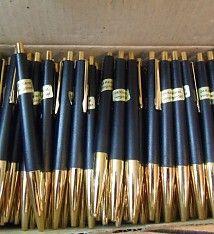 200 Stück Kugelschreiber 24 Karat Vergoldet Neu