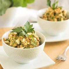 Salmon and Avocado Salad [with Optional Collard Wraps]