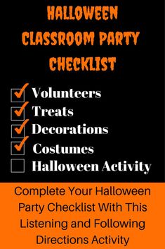 This Following Directions and Listening activity will be a perfect fit for your classroom Halloween party. This product contains 2 Halloween themed stories that can be read aloud while students add details to corresponding maps. Perfect to keep students engaged during the days that lead up to Halloween. Listening Activities, Active Listening, Listening Skills, Classroom Activities, Listening And Following Directions, Following Directions Activities, Creative Thinking Skills, Classroom Halloween Party, Be My Teacher