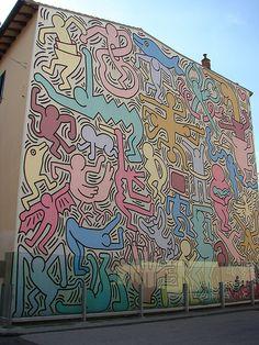 Pisa, Italy - Keith Haring Mural
