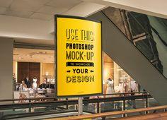 Indoor Advertising Poster MockUp | GraphicBurger