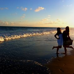 my best friend & I on the beach