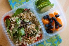 Healthy salad & fruit for lunch
