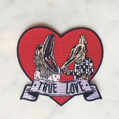 BEETLEJUICE PATCH Barb & Adam are the definition of true love- there stuck with each other forever. -3.5 x 3.5 -Iron-On Backing -100% embroidery
