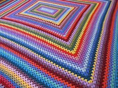 Ravelry: yarnroundhook's Granny rectangle blanket