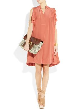 in love!  CHLOÉ  Gathered silk crepe de chine dress  €1,695