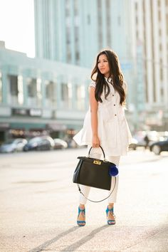 All White :: Ivory tunic
