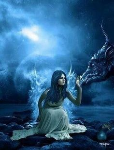 Fairy with dragon