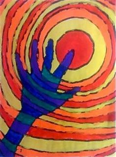 Oodles of Art: Warm/Cool Hands