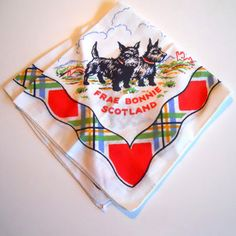 30s Scotty Dog Handkerchief now featured on Fab.