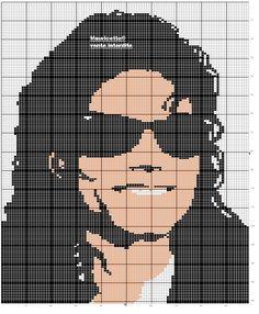 """Borduurpatroon """"Overig"""" Kruissteek *Embroidery Cross Stitch Pattern ~Michael Jackson~"""