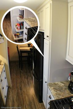 """A 15"""" wide #pantry #cabinet offers a lot of great storage in a small #kitchen.    