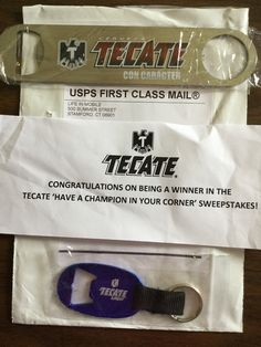 Winner in the TACATE-Have a Champion in Your Corner' Sweepstakes #freestuff #freebies #samples #free