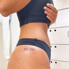 Bum Tattoo Women, Dope Tattoos For Women, Tiny Tattoos For Girls, Small Hip Tattoos Women, Quote Tattoos Girls, Classy Tattoos, Dainty Tattoos, Pretty Tattoos, Unique Tattoos