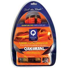 QUANTUM QAK4MANL Amp Installation Kit with ANL Fuse Holder (4 Gauge, 60A Mini ANL Fuse, Mini ANL Fuse Holder)