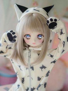Beautiful Barbie Dolls, Pretty Dolls, Cute Dolls, Anime Dolls, Blythe Dolls, Personajes Monster High, Kawaii Doll, Chibi Girl, Anime Figurines