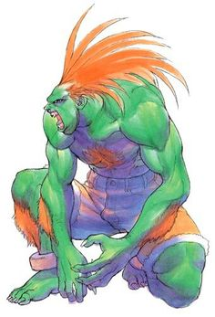 This year marks the Street Fighter II series' anniversary - NeoGAF Blanka Street Fighter, Capcom Street Fighter, Super Turbo, Character Art, Character Design, Super Street Fighter, Comic Movies, Fighting Games, Manga
