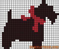 Little Scottie dog pattern cha Knitting Charts, Knitting Stitches, Knitting Patterns, Pixel Crochet, Crochet Chart, Cross Stitch Charts, Cross Stitch Patterns, Cross Stitching, Cross Stitch Embroidery